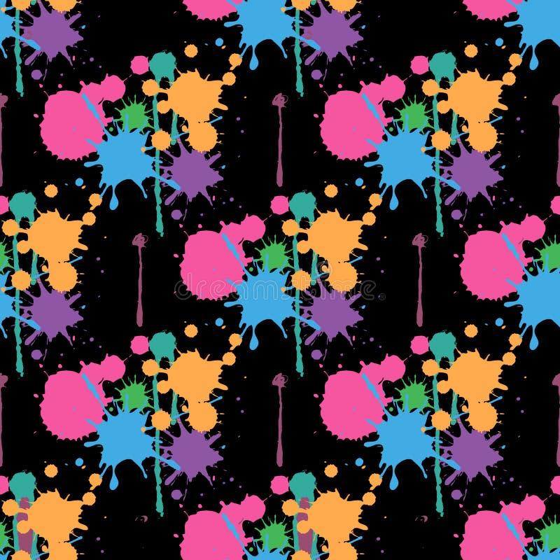 Ploeter verf Abstract Naadloos patroon als achtergrond stock illustratie