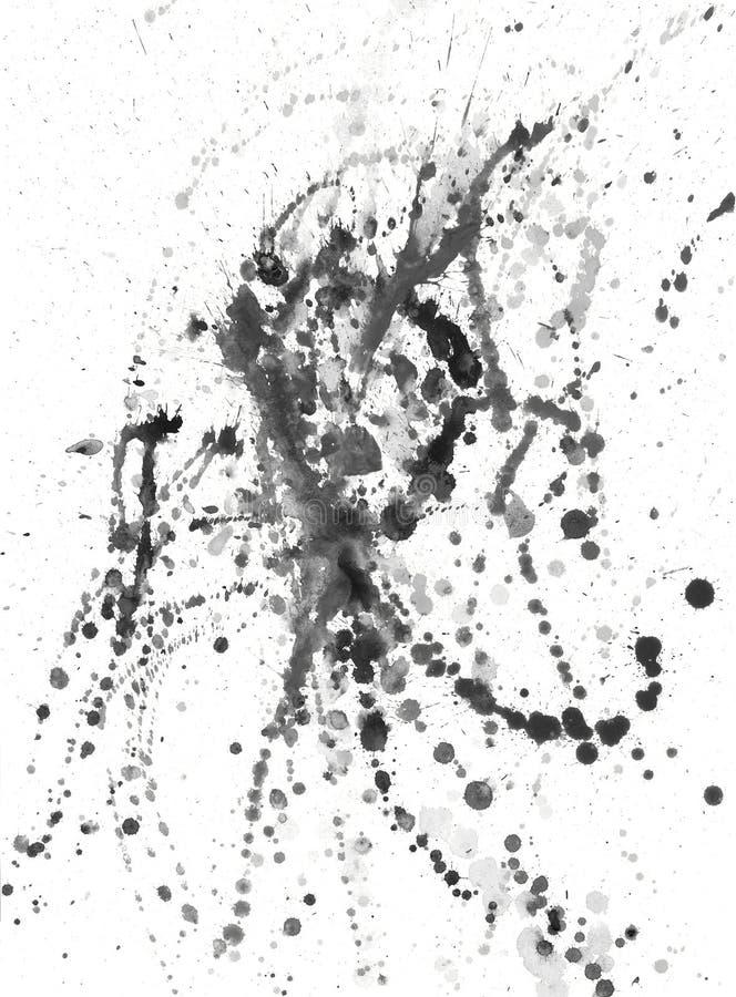 Ploetert, splinter, vlekken, vlekken en vlekken van verf vector illustratie