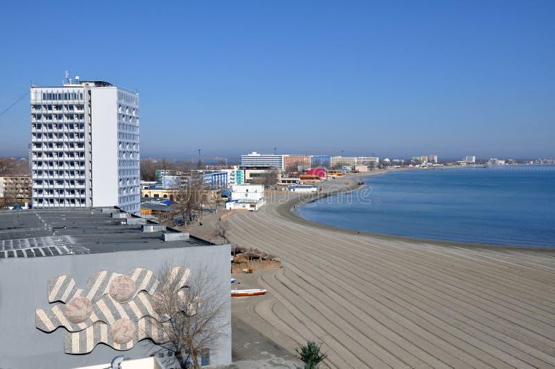 plogad strand arkivbild