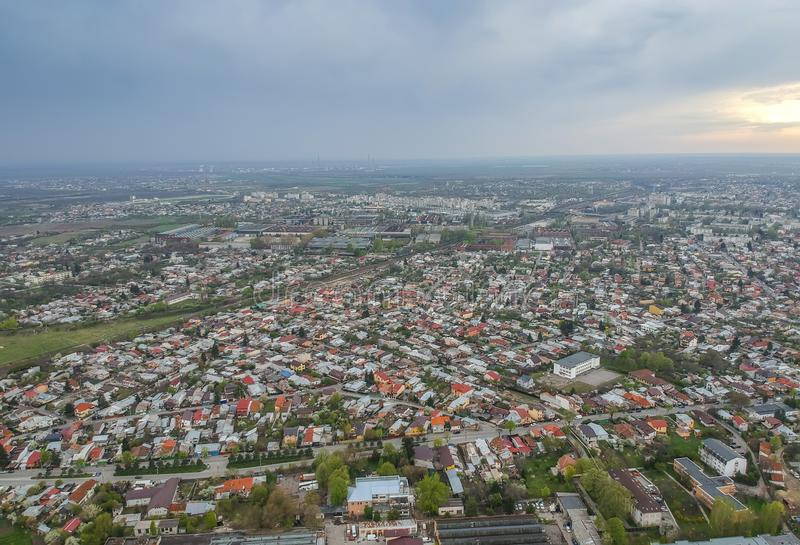 Ploiesti City , Romania, east side district aerial view stock image