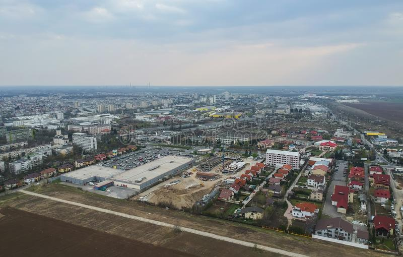 Ploiesti City , Romania, north side  aerial stock image