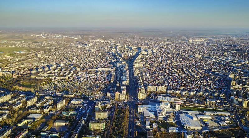 Ploiesti , Romania, aerial view. Ploiesti is a city located in south east Romania , a vibrant industrial city especially known for it`s oil and gas industry