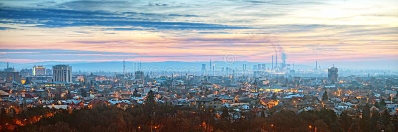 Ploiesti Romania Panorama royalty free stock photo