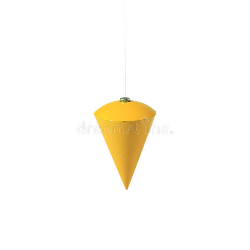 Plomada amarilla aislada imagen de archivo libre de regalías