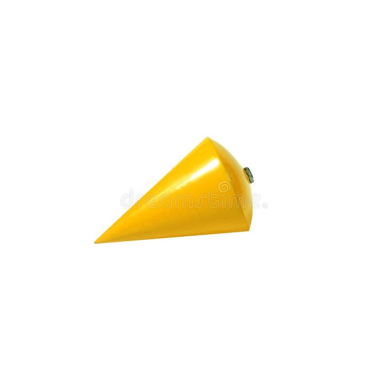 Plomada amarilla aislada fotografía de archivo