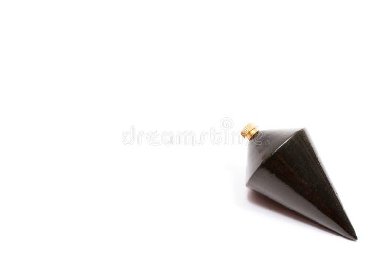 Plomada de acero negra cónica imagenes de archivo