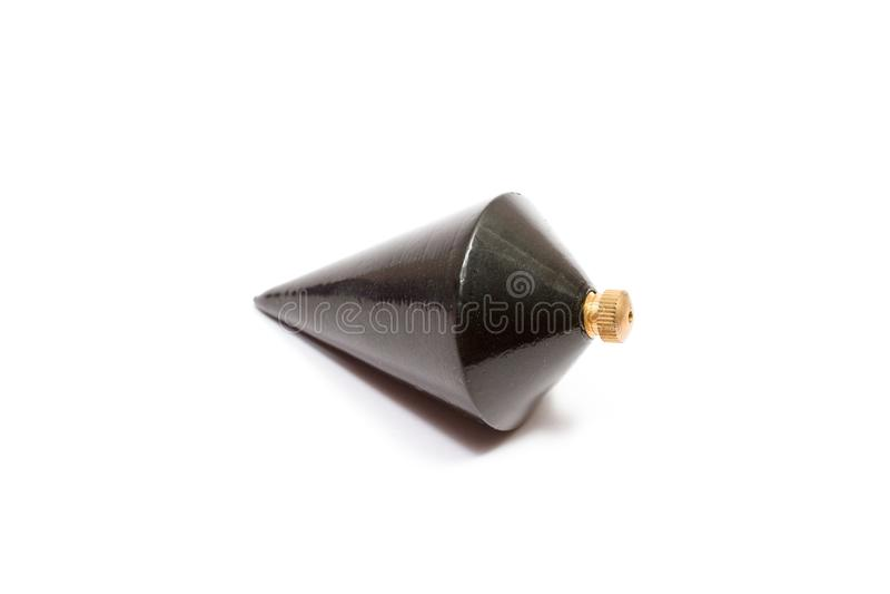 Plomada de acero negra cónica fotografía de archivo libre de regalías