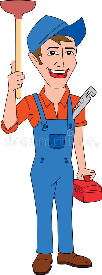 Plombier illustration de vecteur