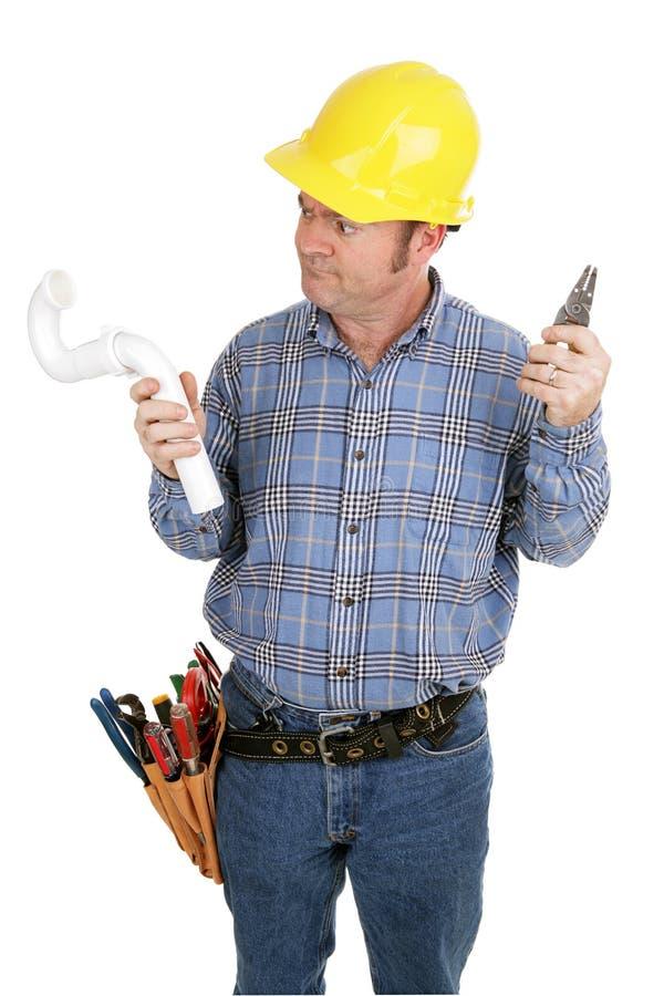 Plombier d'électricien pas photo libre de droits