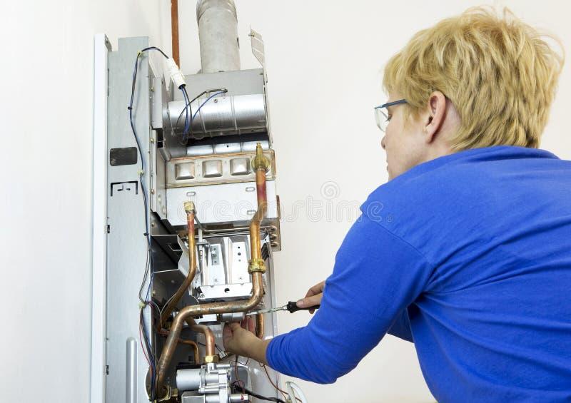 Plombier sanitaire photo libre de droits
