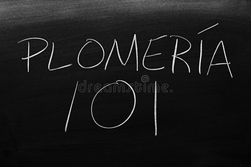 plomerÃa 101 Na Blackboard Przekład: Pionować 101 obrazy royalty free