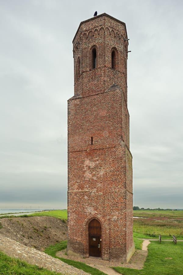The Plompetoren on the embankment of the Eastern Scheldt royalty free stock photo