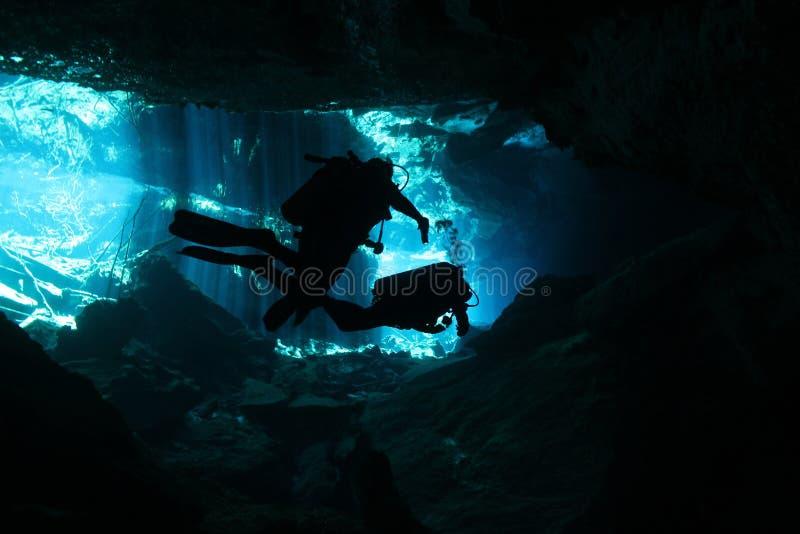 Plongée de Cenote photo stock