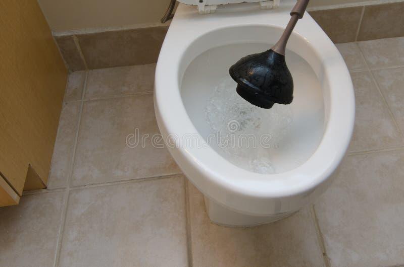 Plongement de la toilette photographie stock libre de droits