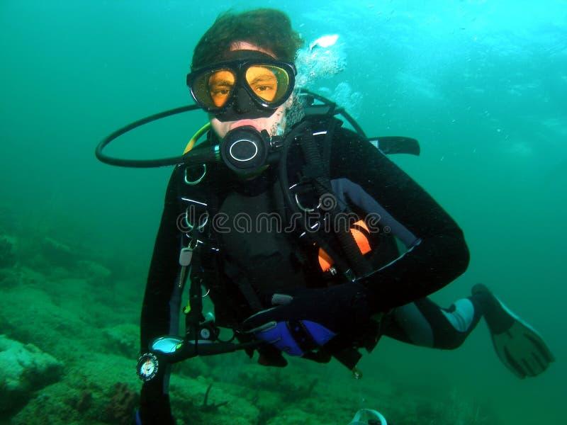 Plongeur autonome image libre de droits