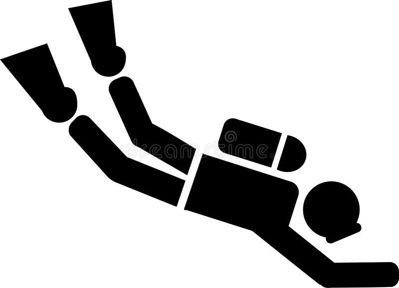 Plongeur autonome Pictogram illustration stock