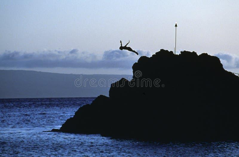 Plongeur de roche photo libre de droits