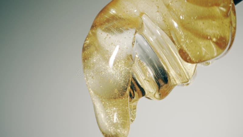 Plongeur en verre de miel, macro tir photographie stock
