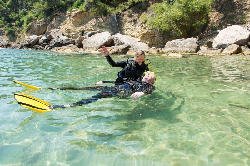 Plongeur Rescue image libre de droits