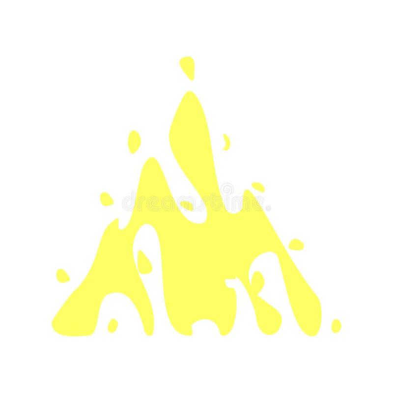 Plons, ananas multicolored pictogram stock illustratie