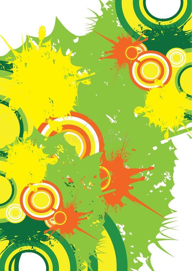 Plons in kleur stock illustratie