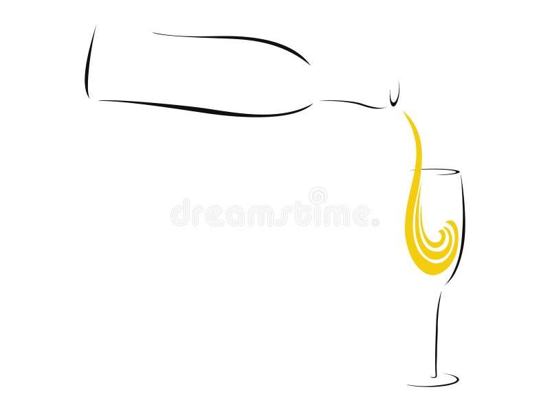 Plons van Champagne stock illustratie