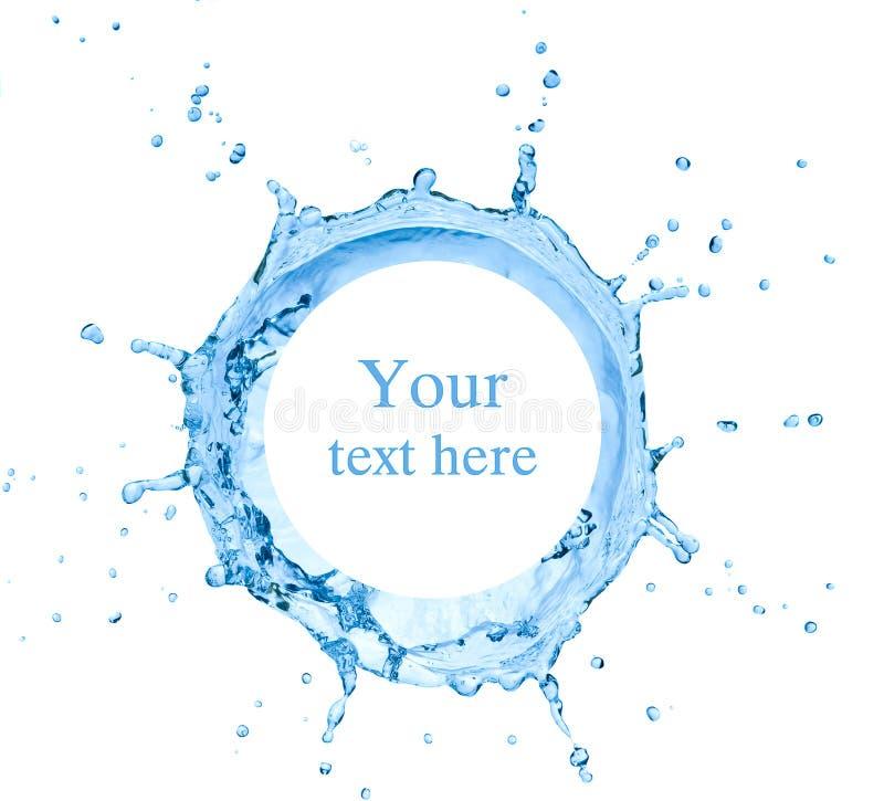 Plons van water royalty-vrije stock foto's