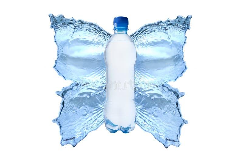 Plons van Water Butterfly2 royalty-vrije stock afbeelding