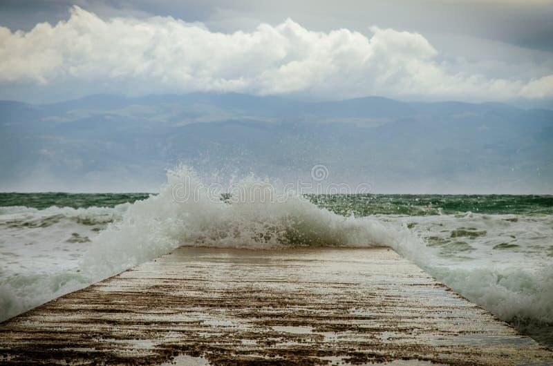 Plons van zeewater royalty-vrije stock fotografie