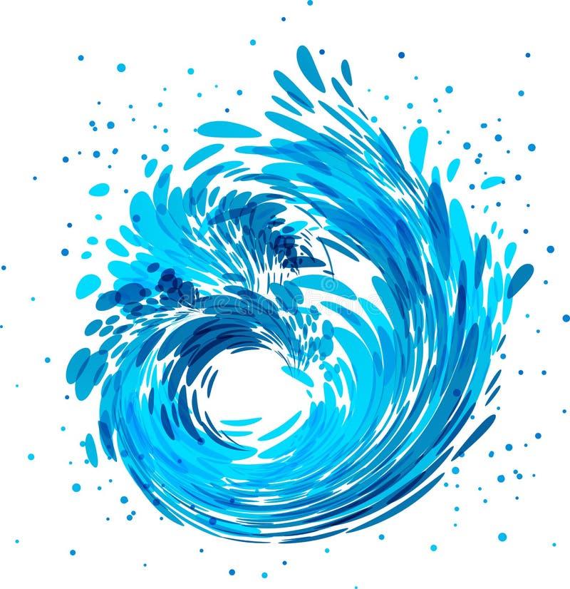 Plonsgolf, waterstroom royalty-vrije illustratie