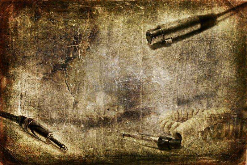 Plot de guitare et de MIC illustration libre de droits
