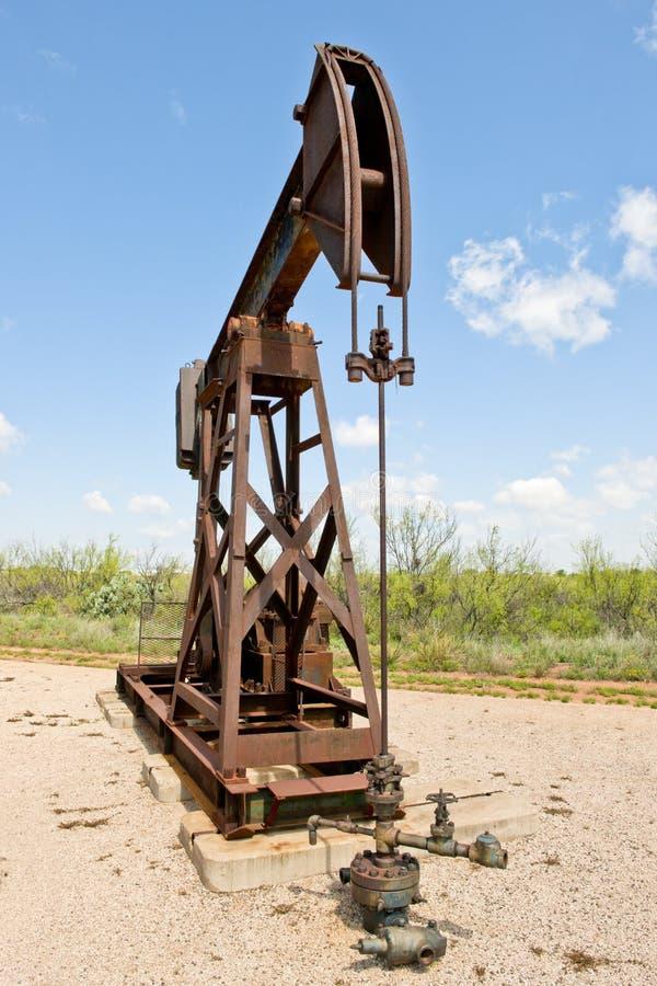 Plot de pompe de pétrole image stock