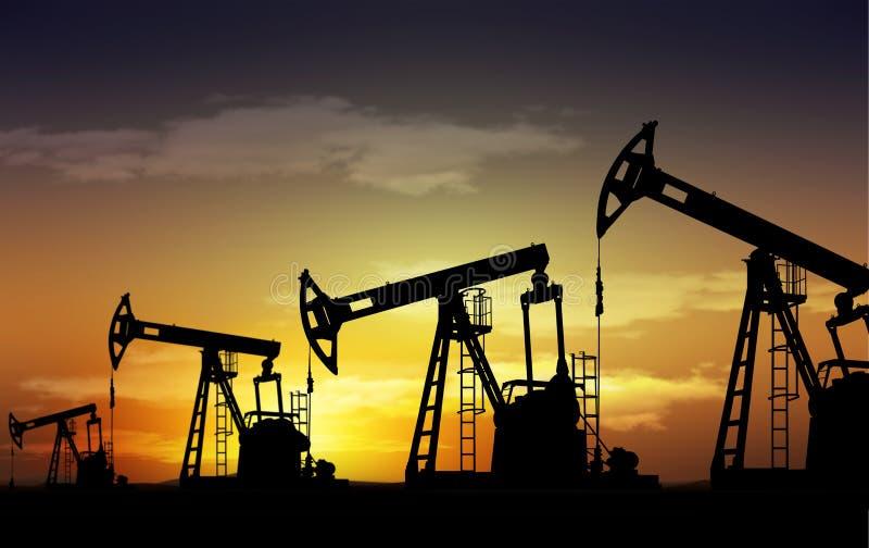 Plot de pompe de pétrole photo stock