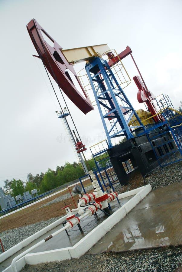 Plot de pompe, industrie pétrolière photos stock