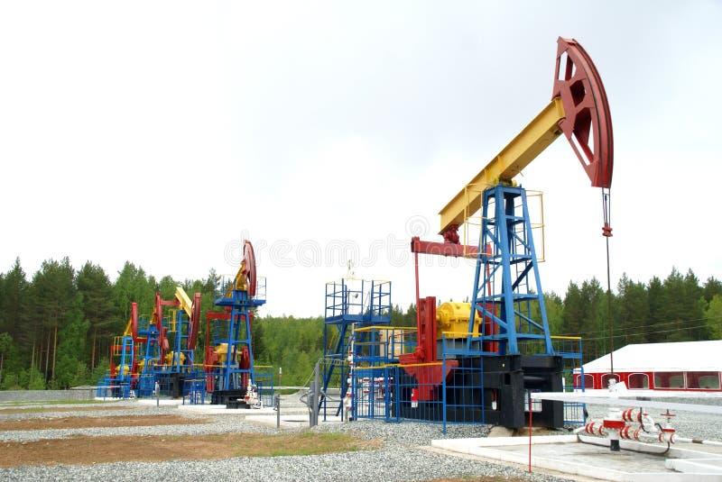 Plot de pompe, industrie pétrolière photo stock