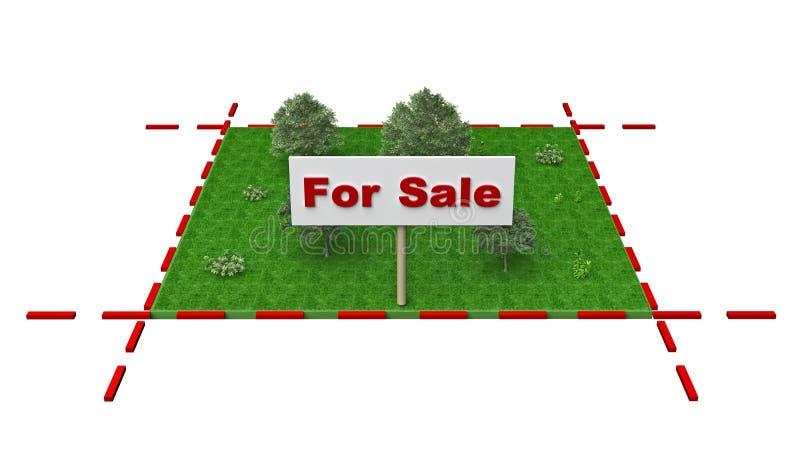 Plot of land for sale. 3d rendering vector illustration