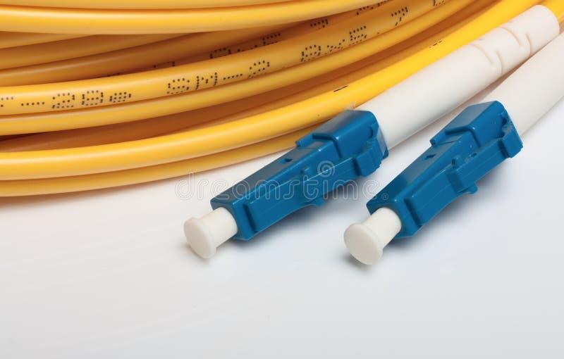 Plot optique duplex du mode unitaire LC de fibre images stock
