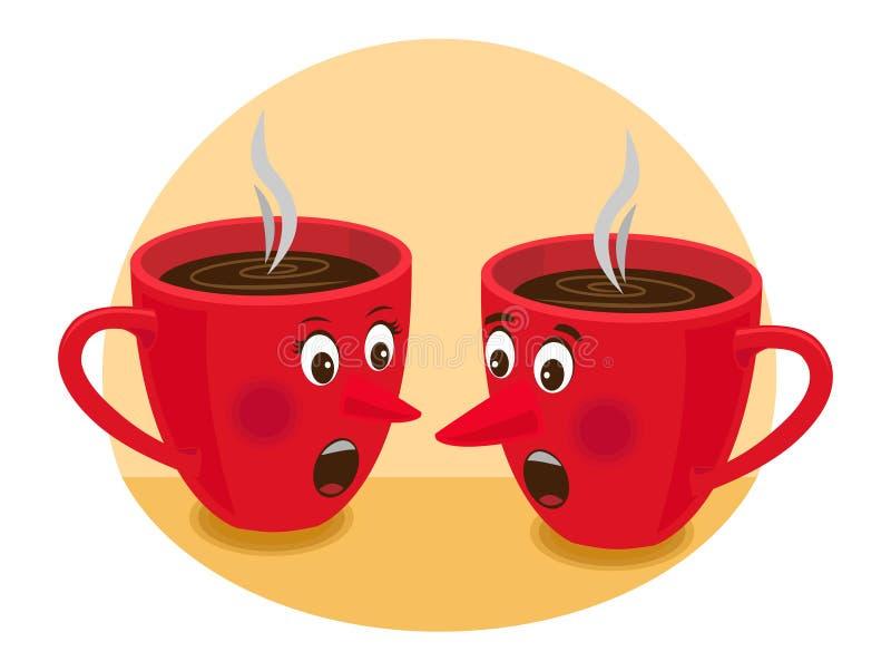 plotki herbaty czas royalty ilustracja