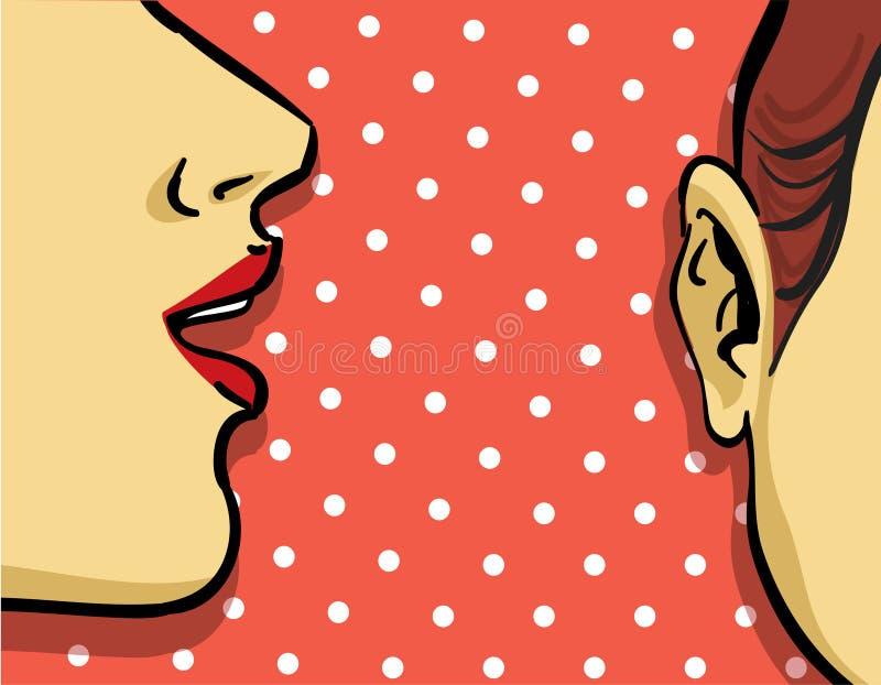 plotki kobieta ilustracja wektor