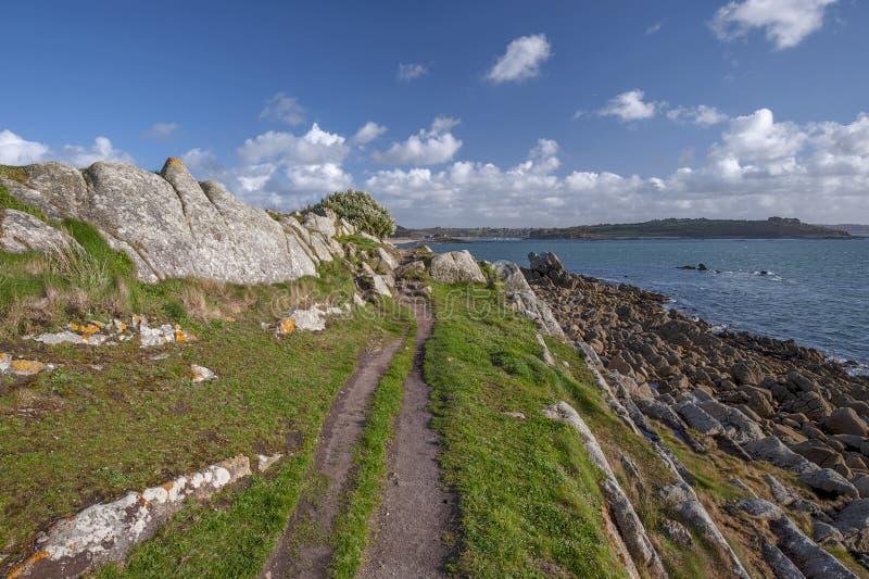 Plougasnou kustlinje fotografering för bildbyråer