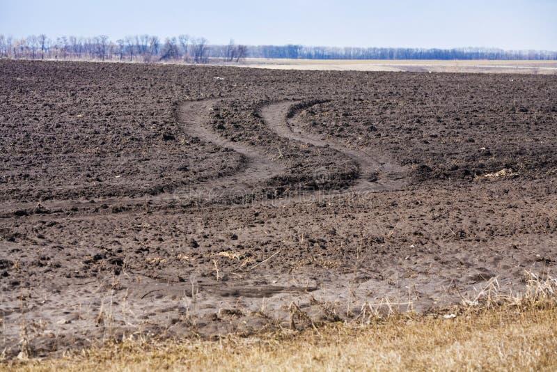 Plough land stock photo