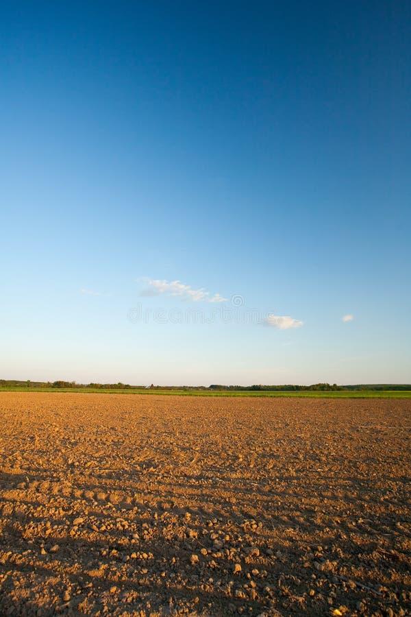 Plough soil, agriculture, landscape royalty free stock image