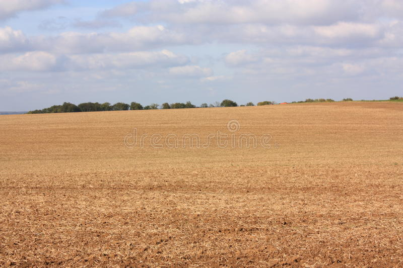 Ploughed soil. In Aisne,Picardy region of France royalty free stock image