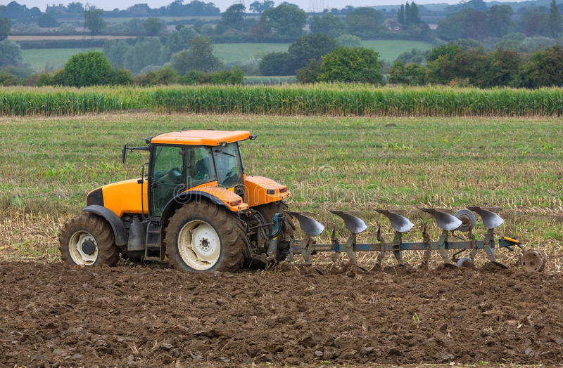 Ploughing. Autumn ploughing for the new season stock photos
