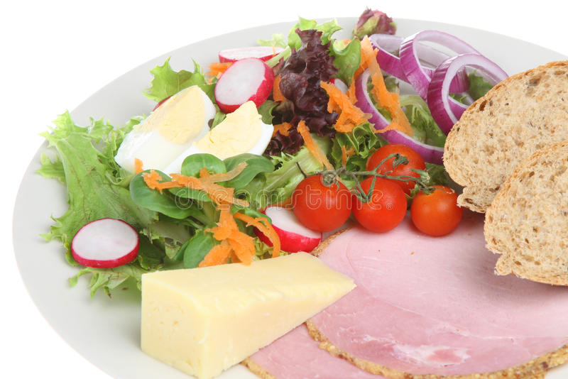 Download Ploughmans Lunch stock photo. Image of cheddar, lettuce - 9712868