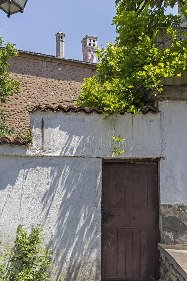 Street and Nineteenth Century Houses in architectural and historical reserve The old town in cit stock image