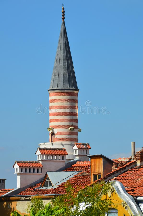 Djumaya Mosque or Ulu Mosque. PLOVDIV BULGARIA SEPT 18: Djumaya Mosque or Ulu Mosque, is a precious architectural monument in Plovdiv that gives an idea of the royalty free stock images