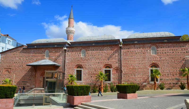 Djumaya Mosque or Ulu Mosque. PLOVDIV BULGARIA SEPT 18: Djumaya Mosque or Ulu Mosque, is a precious architectural monument in Plovdiv that gives an idea of the stock photography