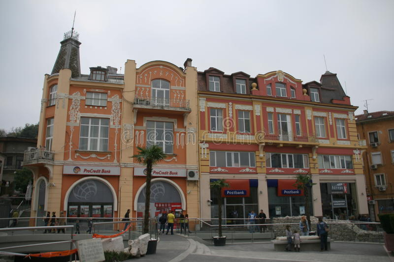Plovdiv de stad in, Bulgarije royalty-vrije stock foto
