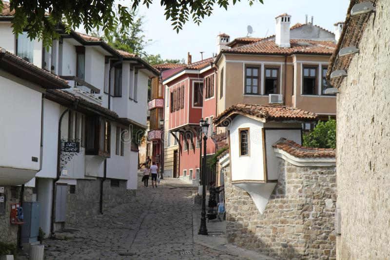 Plovdiv old quarter stock image